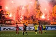 Der Fc Thun gewinnt am achten Dezember 2013 in der Arena Thun eins zu null gegen BSC YB. Bild: Manuel Lopez