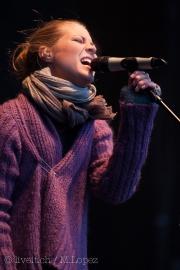 Die Berner Band Lunik auf der Bühne am Touch the Mountains am 01. Januar 2014 in Interlaken, BE. Bild: Manuel Lopez / liveit.ch