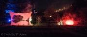 Die Feuershow war kurz und nicht so spektakulär, wie sie die meisten Besucher erwartet hatten.