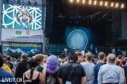 Zabrahead auf der Bühne am Greenfieldfestival in Interlaken.