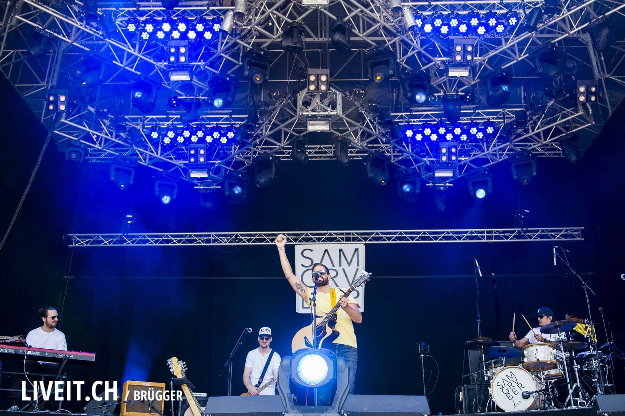 Sam Gruber Band an Open Air Gampel 2017