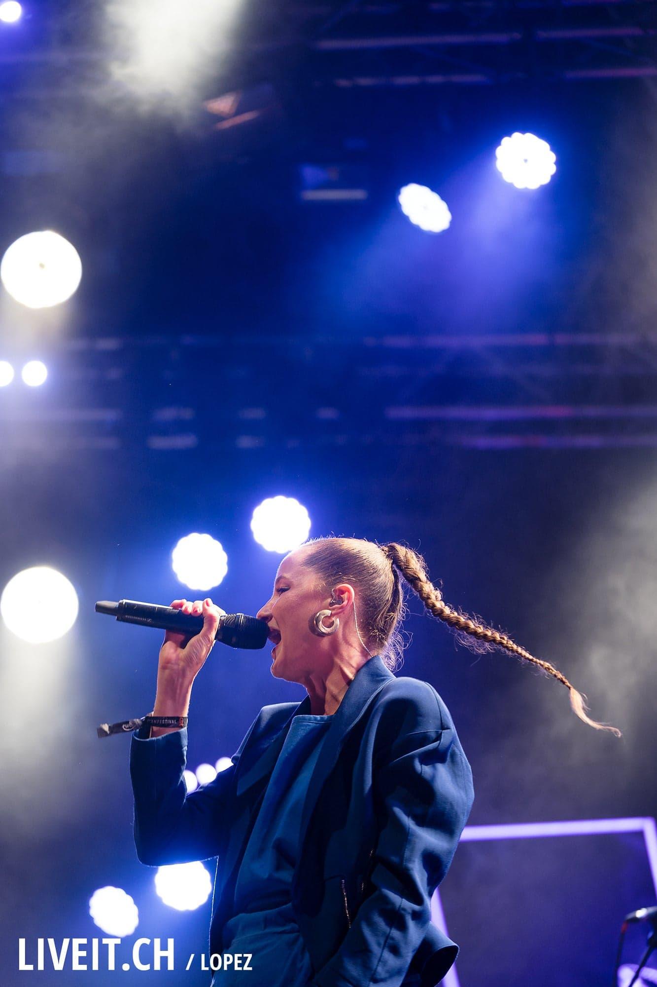 Steffe La Cheffe fotografiert am Gurtenfestival 2018 in Bern. (Manuel Lopez for Gurtenfestival)