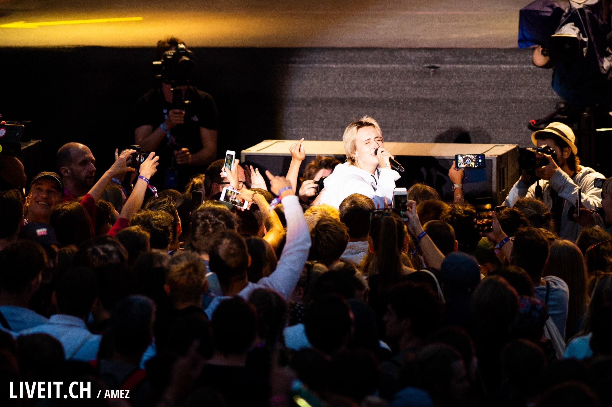 Mø auf der Hauptbühne fotografiert am Gurtenfestival 2018 in Bern. (Pascale Amez for Gurtenfestival)