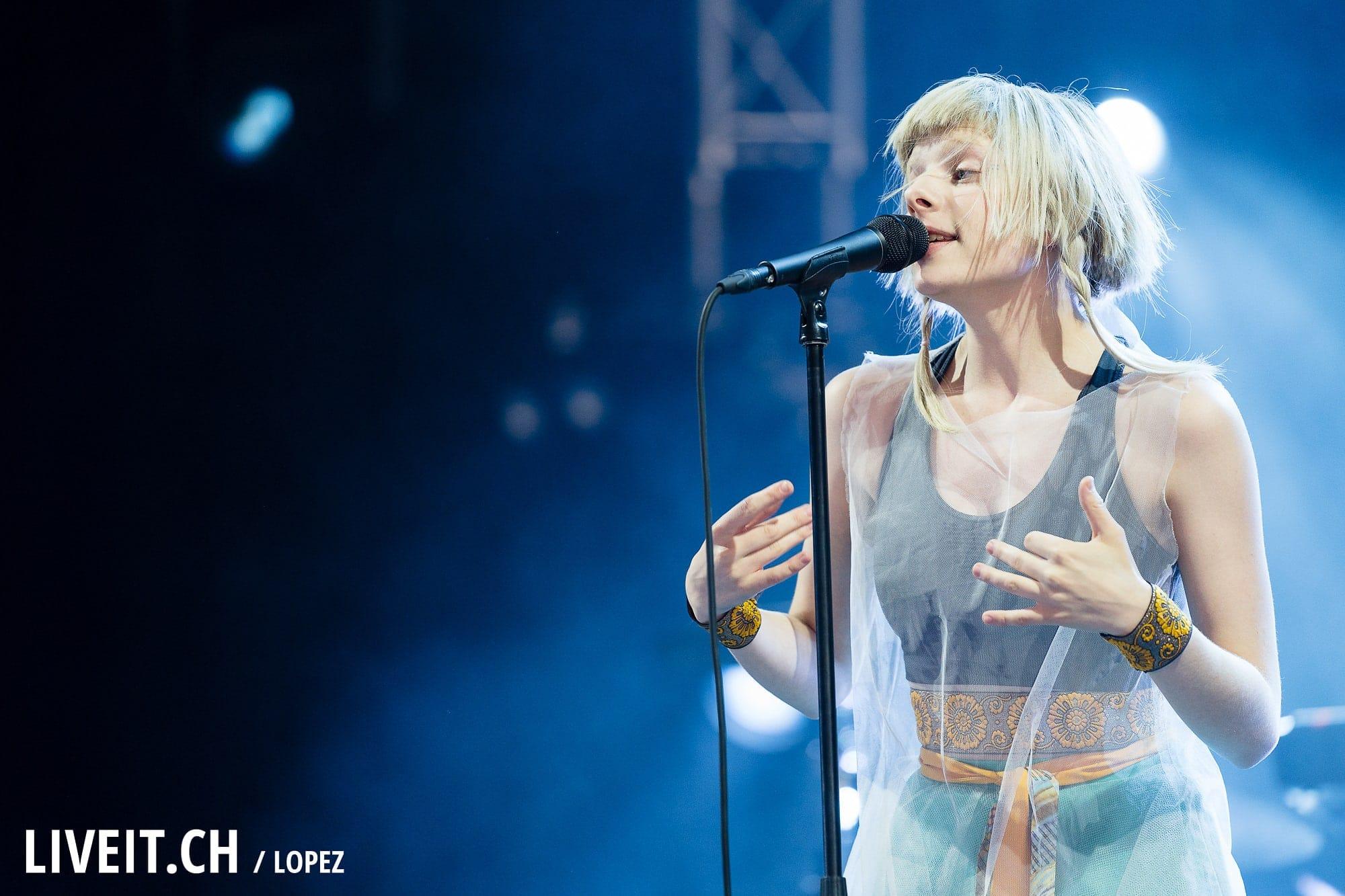 Aurora fotografiert am Gurtenfestival 2018 in Bern. (Manuel Lopez for Gurtenfestival)