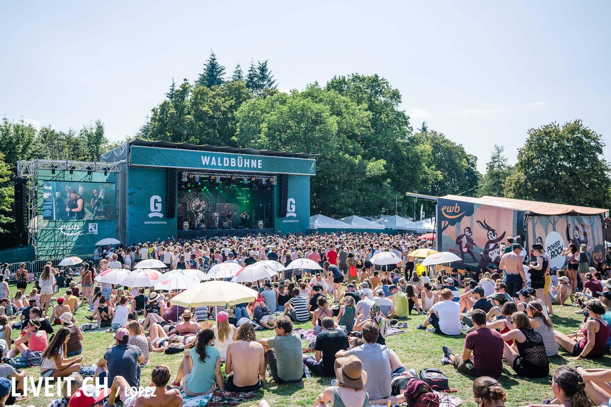 Saint City Orchestra fotografiert am Gurtenfestival 2018 in Bern. (Manuel Lopez for Gurtenfestival)