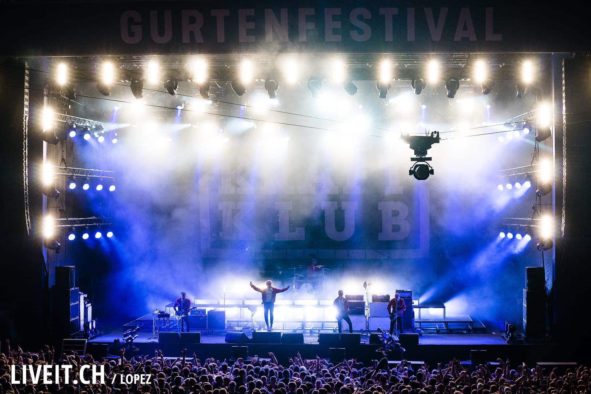 Kraftklub fotografiert am Gurtenfestival 2018 in Bern. (Manuel Lopez for Gurtenfestival)