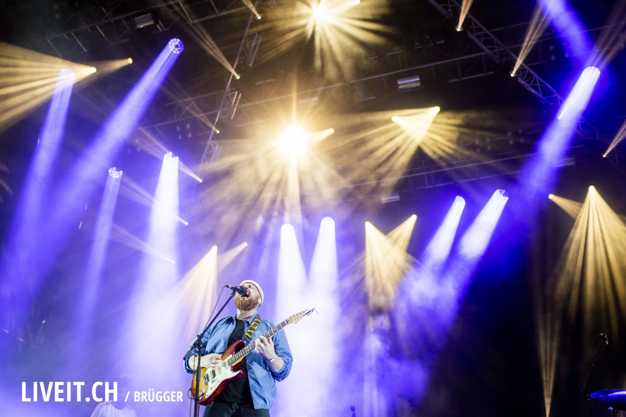 Tom Walker fotografiert am Openair Gampel 2018. (Dominic Bruegger for liveit.ch)