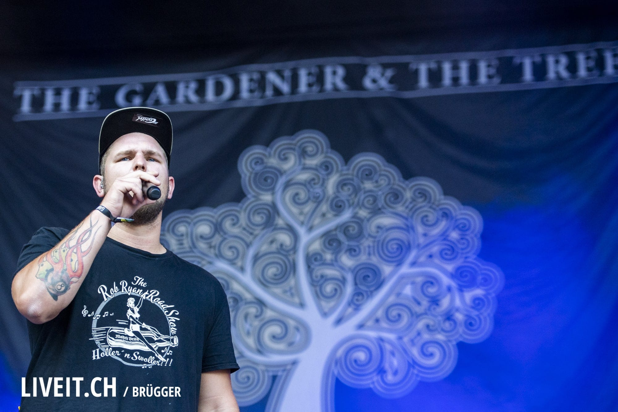 The Gardener and The Tree fotografiert am Openair Gampel 2018. (Dominic Bruegger for liveit.ch)
