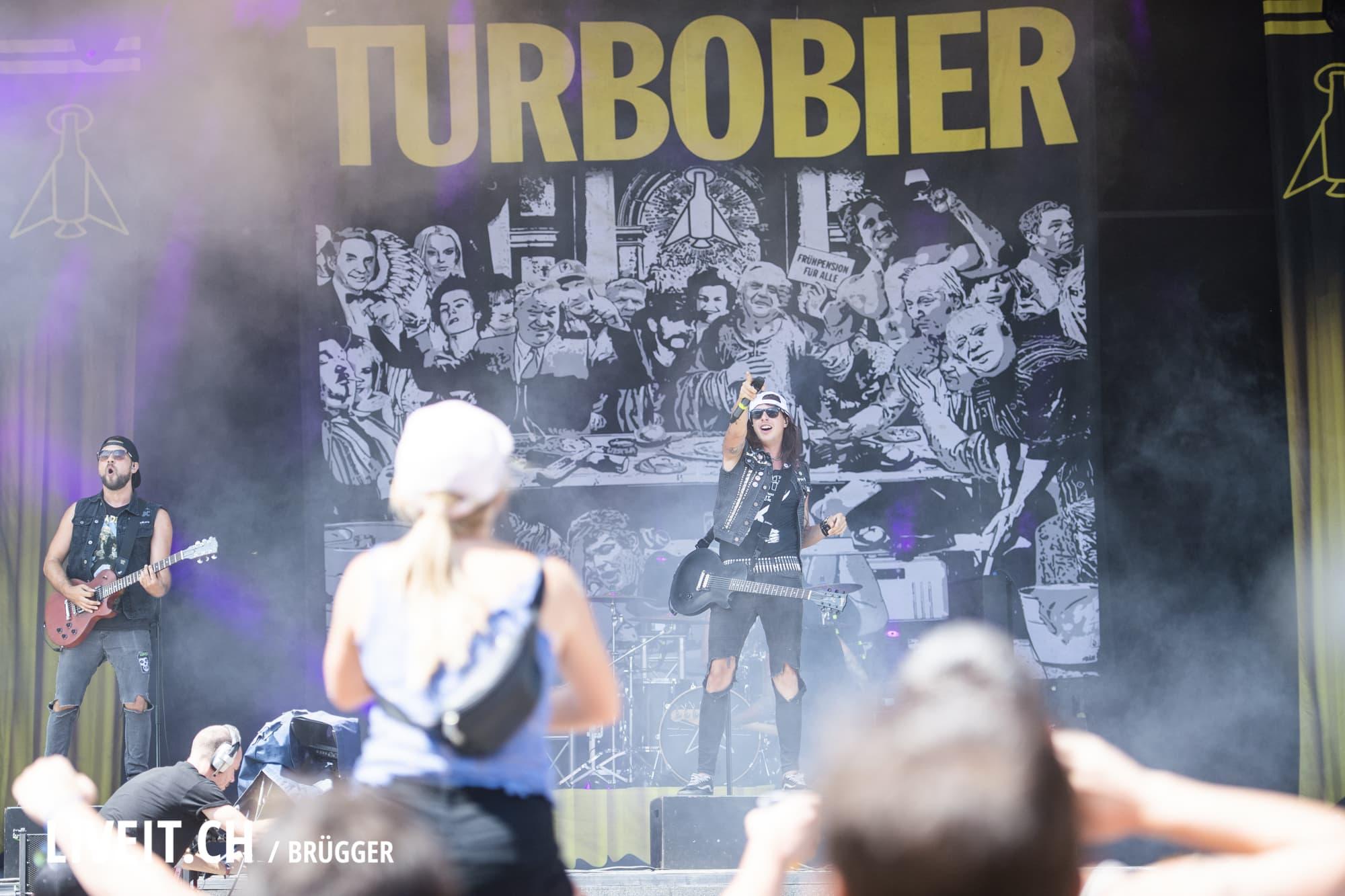 Turbobier fotografiert am Openair Gampel 2018. (Dominic Bruegger for liveit.ch)