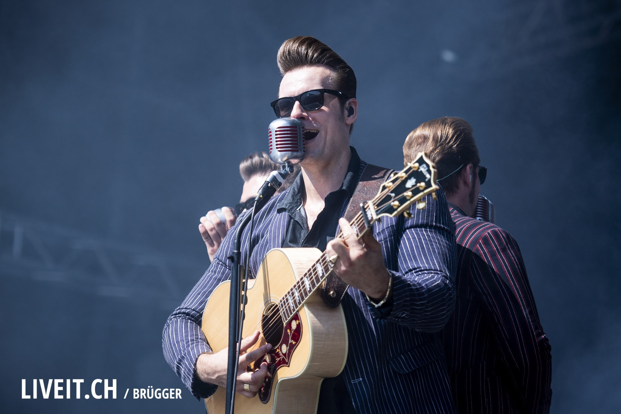 The Baseballs fotografiert am Openair Gampel 2018. (Dominic Bruegger for liveit.ch)