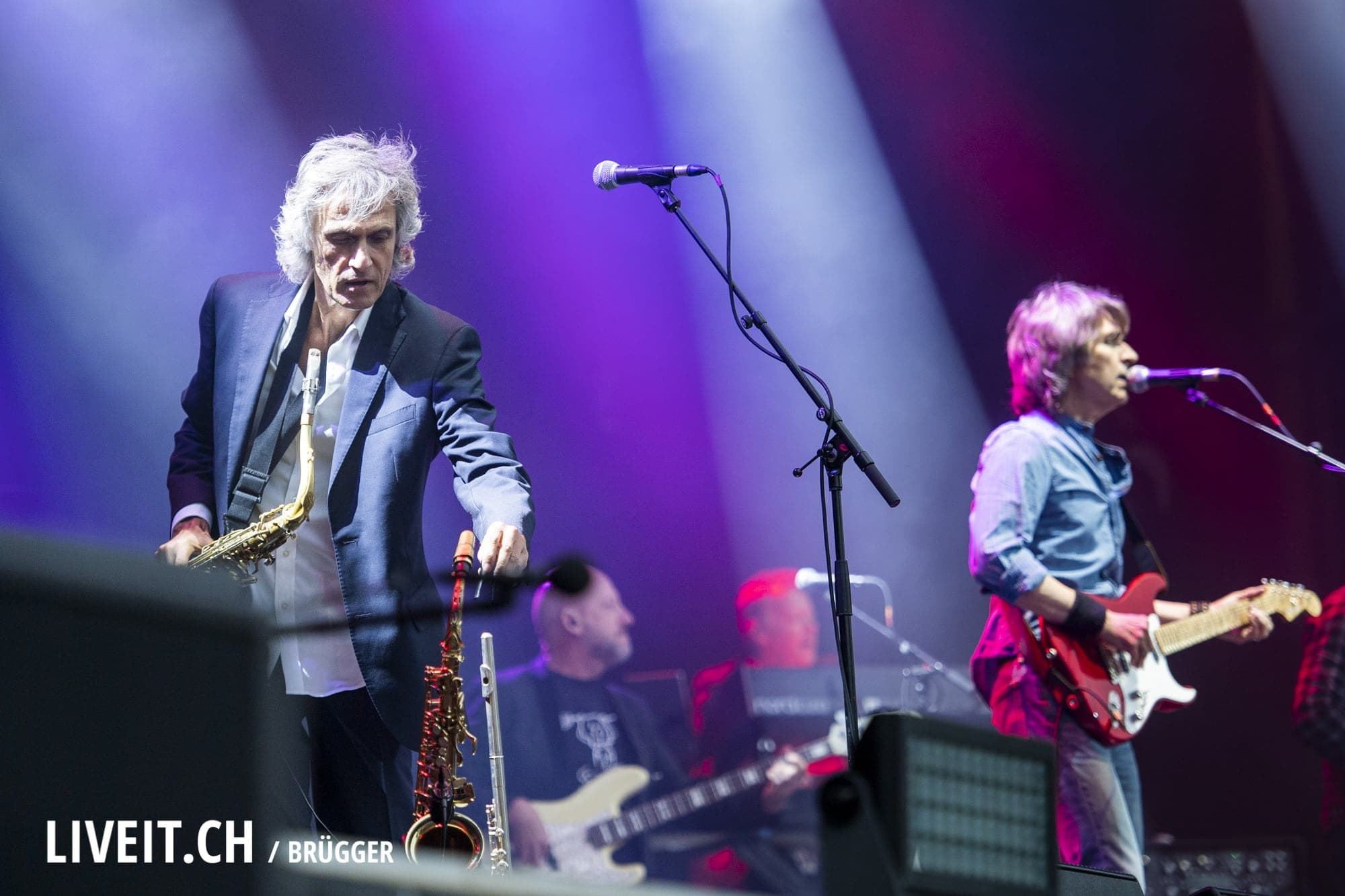 The Dire Straits Experience fotografiert am Seaside Festival 2018. (Dominic Bruegger for liveit.ch)