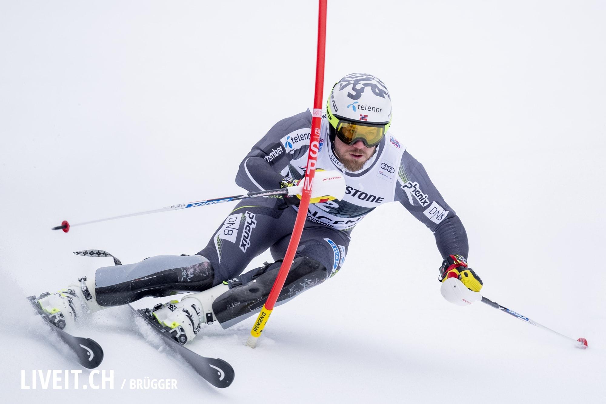 Kjetil Jansrud (NOR) fotografiert am Freitag, 18. Januar 2019 am Lauberhornrennen in der Disziplin: Slalom Alpine Kombination. (Fotografiert von Dominic Bruegger liveit.ch)