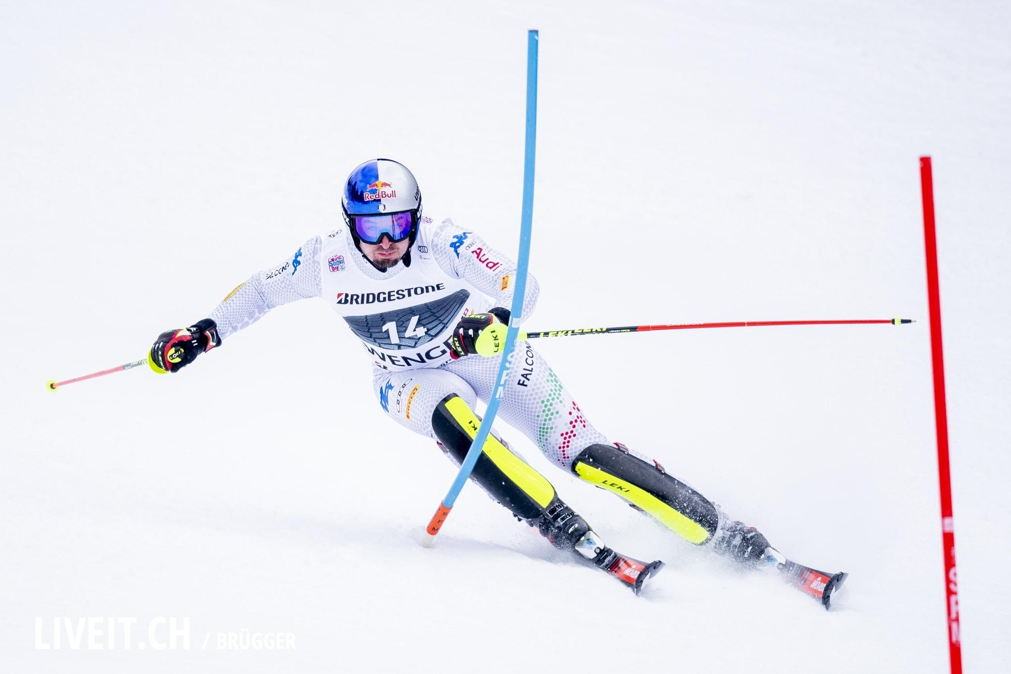 Dominik Paris (ITA) fotografiert am Freitag, 18. Januar 2019 am Lauberhornrennen in der Disziplin: Slalom Alpine Kombination. (Fotografiert von Dominic Bruegger liveit.ch)