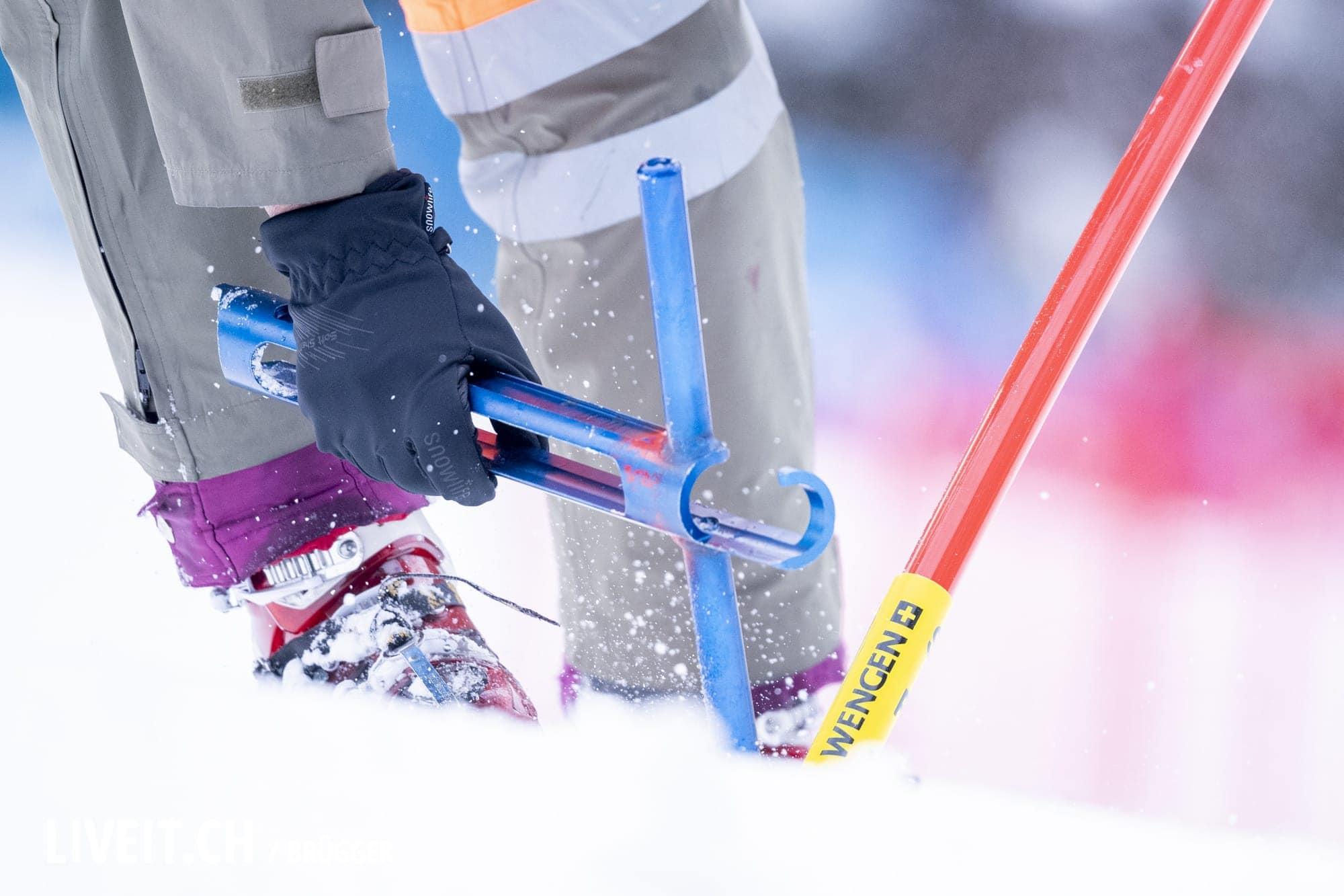 Helfer fotografiert am Freitag, 18. Januar 2019 am Lauberhornrennen in der Disziplin: Slalom Alpine Kombination. (Fotografiert von Dominic Bruegger liveit.ch)