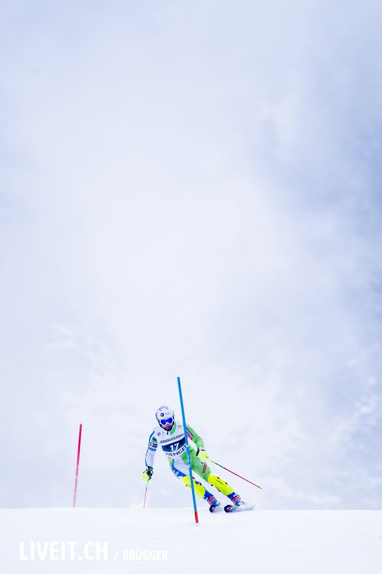 Martin Cater (SLO) fotografiert am Freitag, 18. Januar 2019 am Lauberhornrennen in der Disziplin: Slalom Alpine Kombination. (Fotografiert von Dominic Bruegger liveit.ch)
