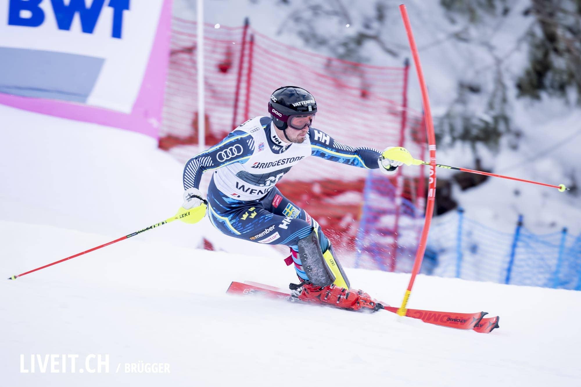 Alexander Koell (SWE) fotografiert am Freitag, 18. Januar 2019 am Lauberhornrennen in der Disziplin: Slalom Alpine Kombination. (Fotografiert von Dominic Bruegger liveit.ch)