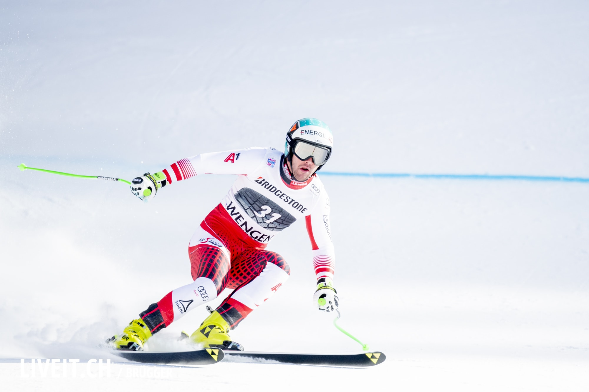 Vincent Kriechmayr (AUT) fotografiert am Freitag, 18. Januar 2019 am Lauberhornrennen in der Disziplin: Slalom Alpine Kombination. (Fotografiert von Dominic Bruegger liveit.ch)
