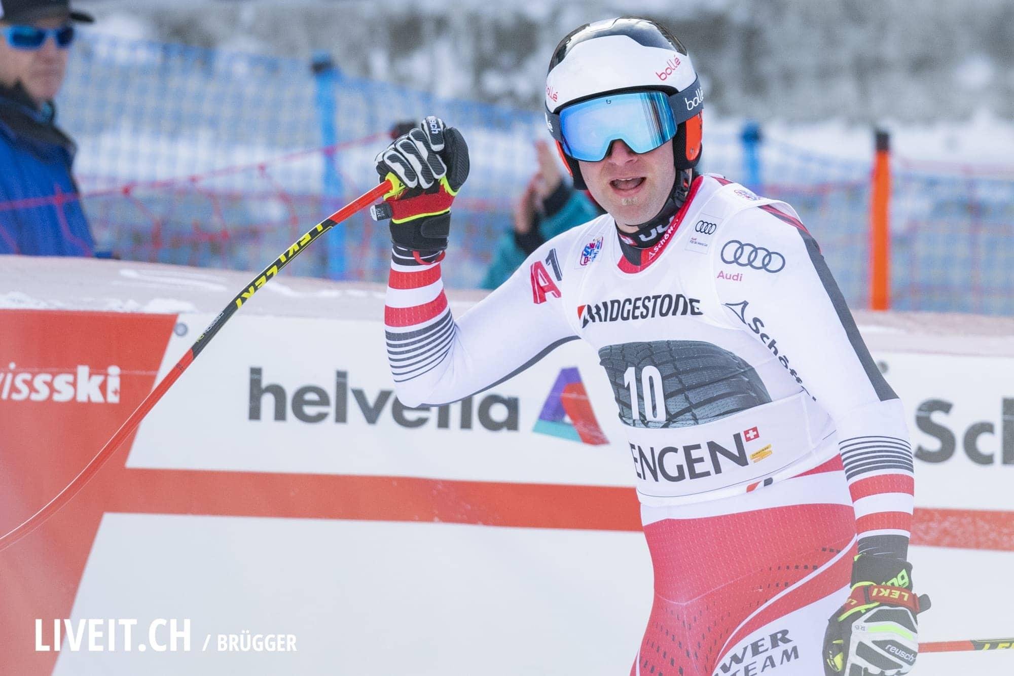 Romed Baumann (SUI) fotografiert am Freitag, 18. Januar 2019 am Lauberhornrennen in der Disziplin: Slalom Alpine Kombination. (Fotografiert von Dominic Bruegger liveit.ch)