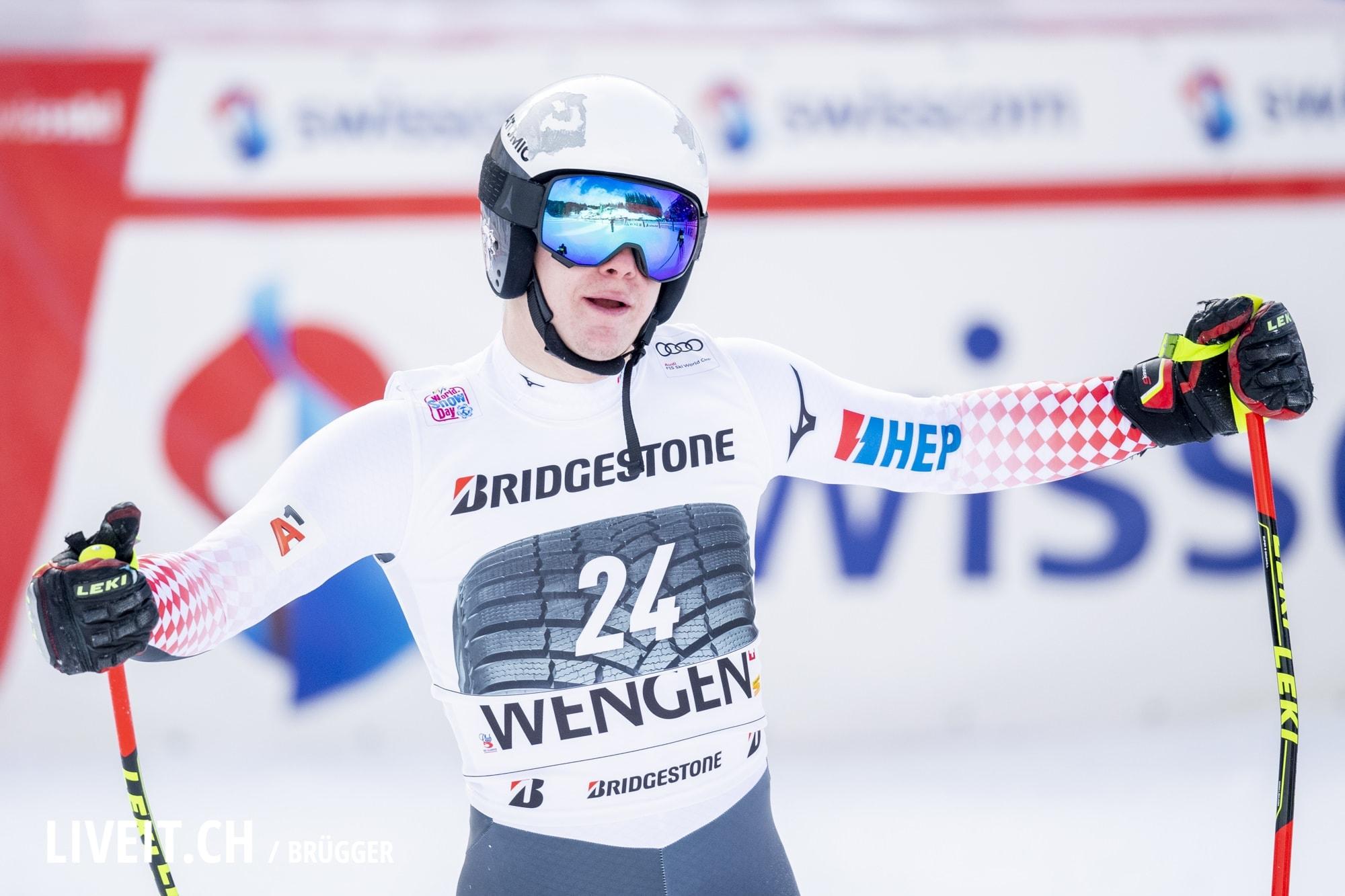 Filip Zubcic (CRO) fotografiert am Freitag, 18. Januar 2019 am Lauberhornrennen in der Disziplin: Slalom Alpine Kombination. (Fotografiert von Dominic Bruegger liveit.ch)