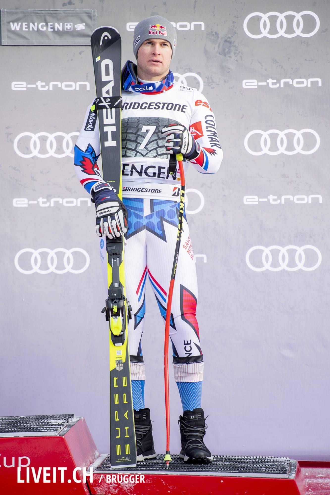 Alexis Pinturault (FRA) fotografiert am Freitag, 18. Januar 2019 am Lauberhornrennen in der Disziplin: Slalom Alpine Kombination. (Fotografiert von Dominic Bruegger liveit.ch)