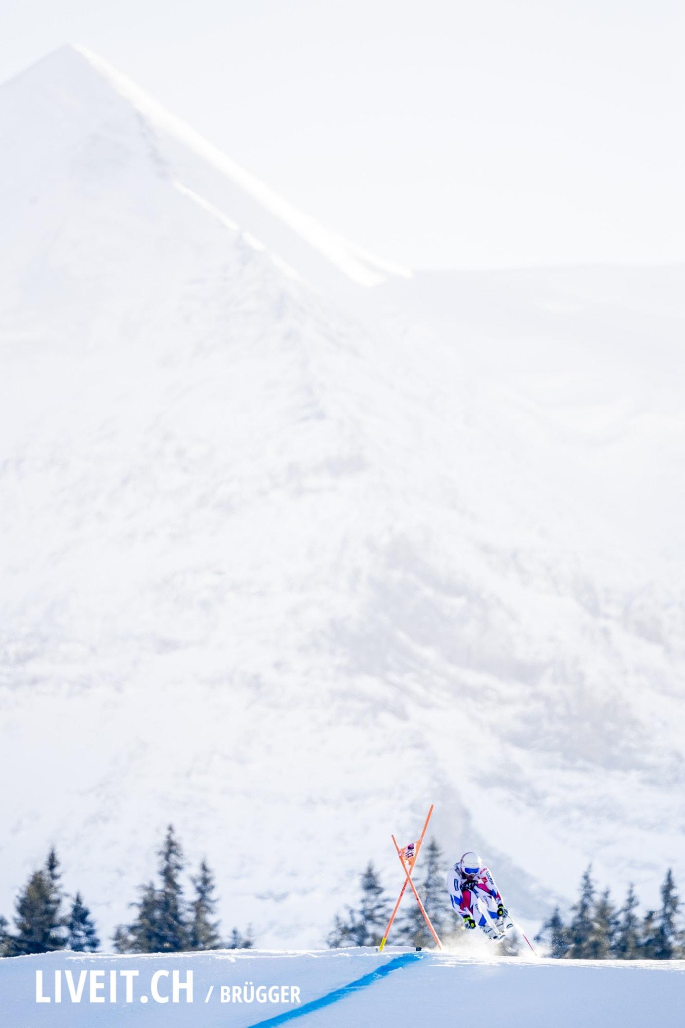 Adrien Theaux (FRA) fotografiert am Samstag, 19. Januar 2019 am Lauberhornrennen in der Disziplin: Abfahrt. (Fotografiert von Dominic Bruegger liveit.ch)