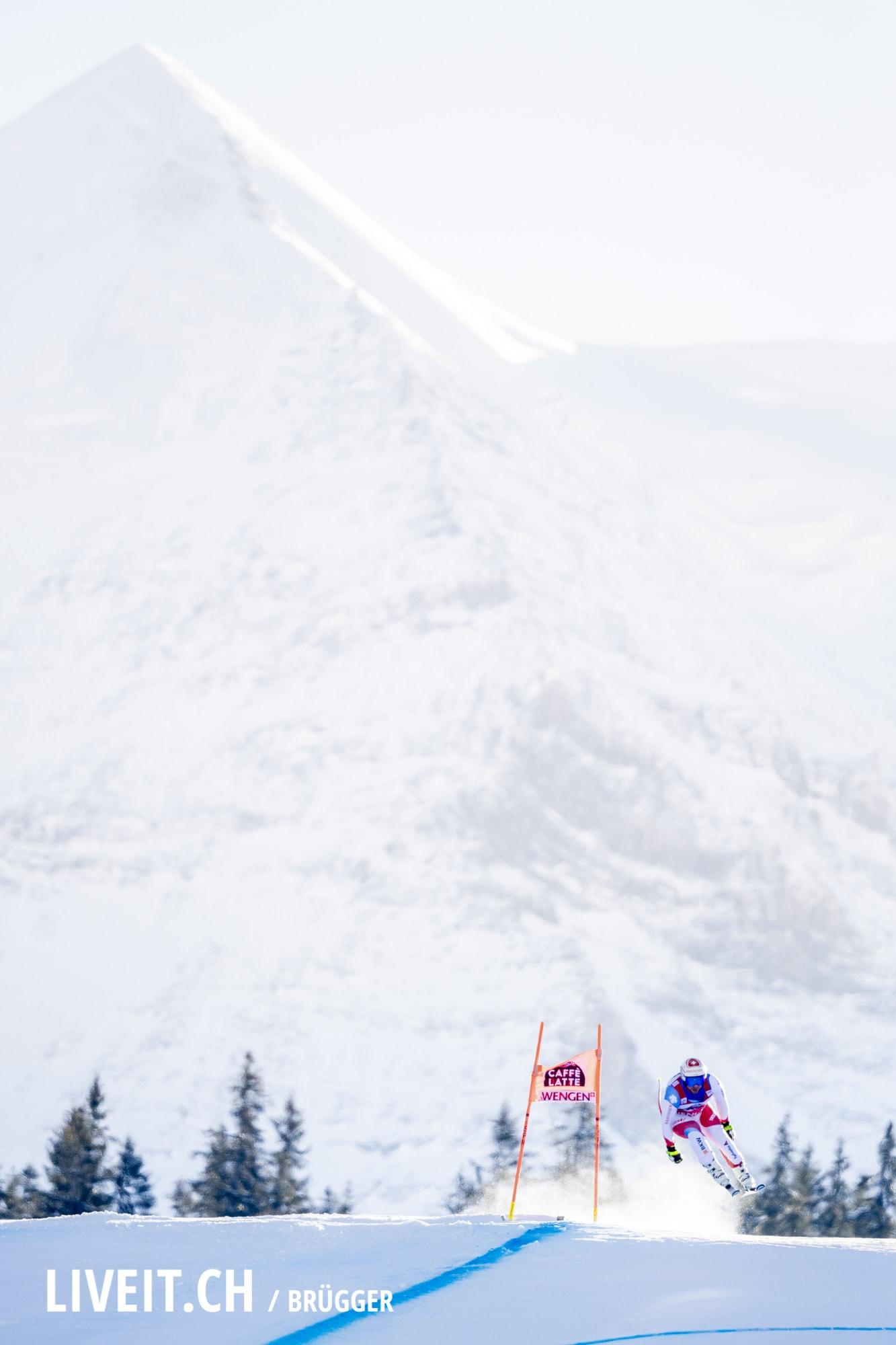 Beat Feuz (SUI) fotografiert am Samstag, 19. Januar 2019 am Lauberhornrennen in der Disziplin: Abfahrt. (Fotografiert von Dominic Bruegger liveit.ch)