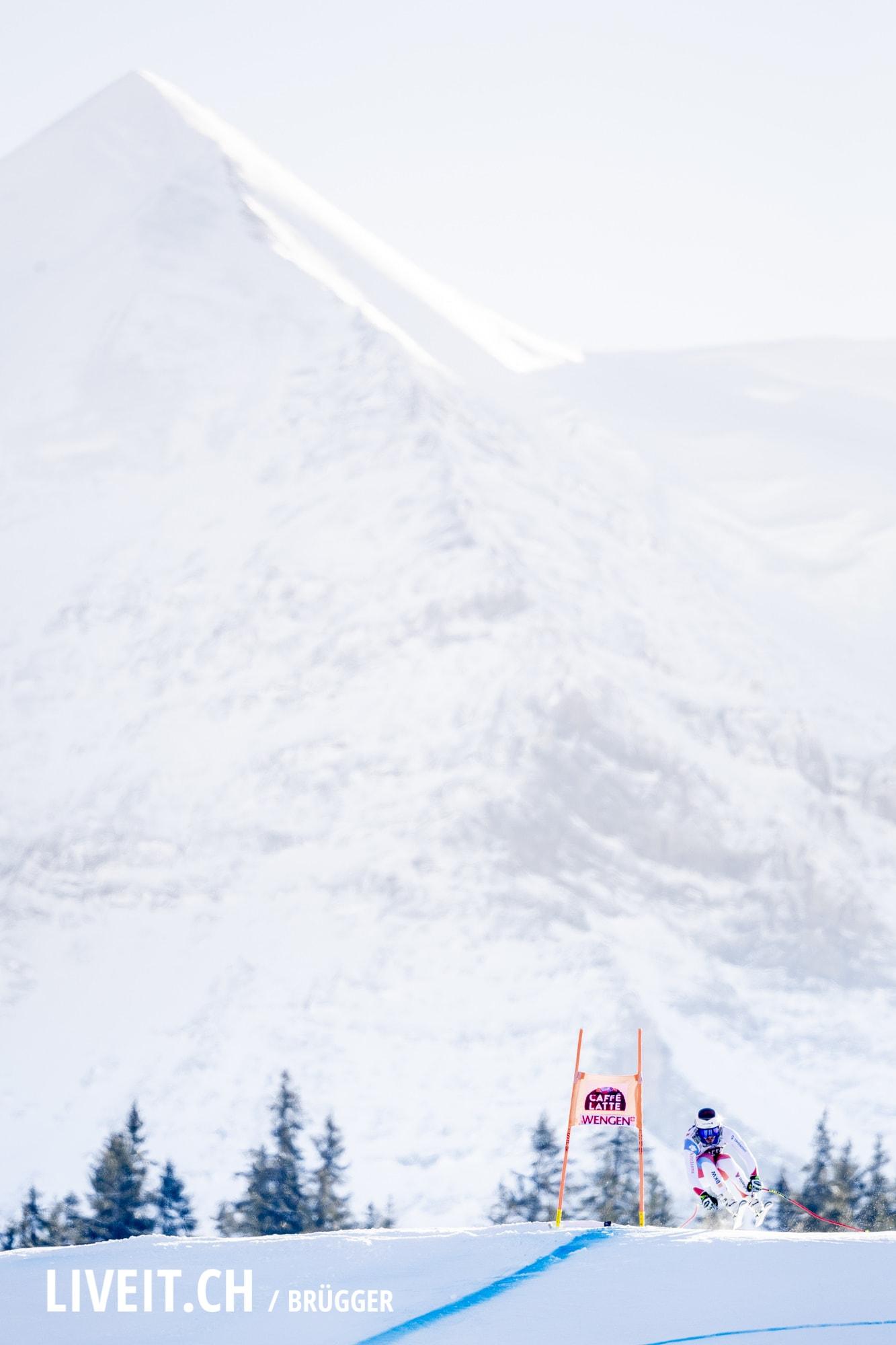 Gilles Roulin (SUI) fotografiert am Samstag, 19. Januar 2019 am Lauberhornrennen in der Disziplin: Abfahrt. (Fotografiert von Dominic Bruegger liveit.ch)