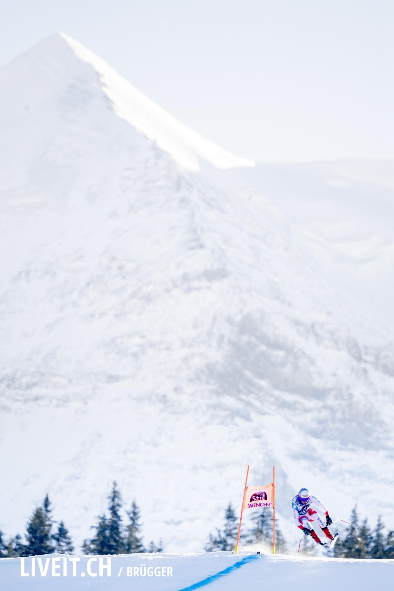 Mauro Caviezel (SUI) fotografiert am Samstag, 19. Januar 2019 am Lauberhornrennen in der Disziplin: Abfahrt. (Fotografiert von Dominic Bruegger liveit.ch)
