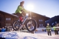 Das Snow Bike Festival gehört der UCI Rennserie an. Wispile Eliminator (wird nicht gewertet) fotografiert am Samstag, 26. Januar 2019 in Gstaad. (Fotografiert von Dominic Bruegger für liveit.ch)
