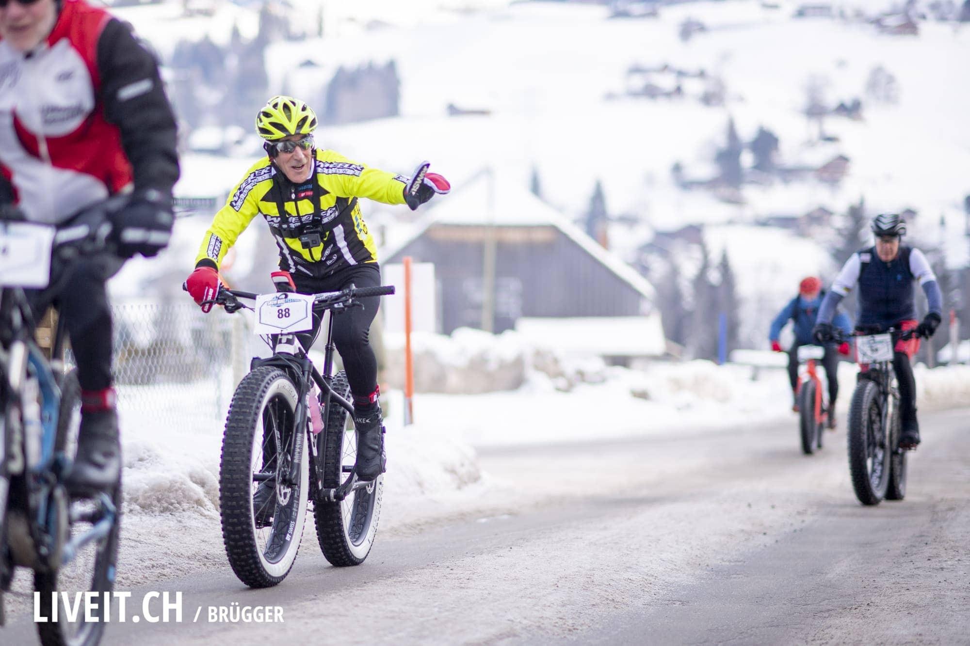 Das Snow Bike Festival gehört der UCI Rennserie an, 2. Etappe fotografiert am Samstag, 26. Januar 2019 in Gstaad. (Fotografiert von Dominic Bruegger für liveit.ch)