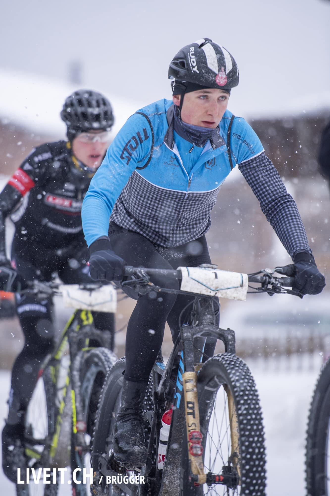 Das Snow Bike Festival gehört der UCI Rennserie an, 3. Etappe fotografiert am Samstag, 27. Januar 2019 in Gstaad. (Fotografiert von Dominic Bruegger für liveit.ch)