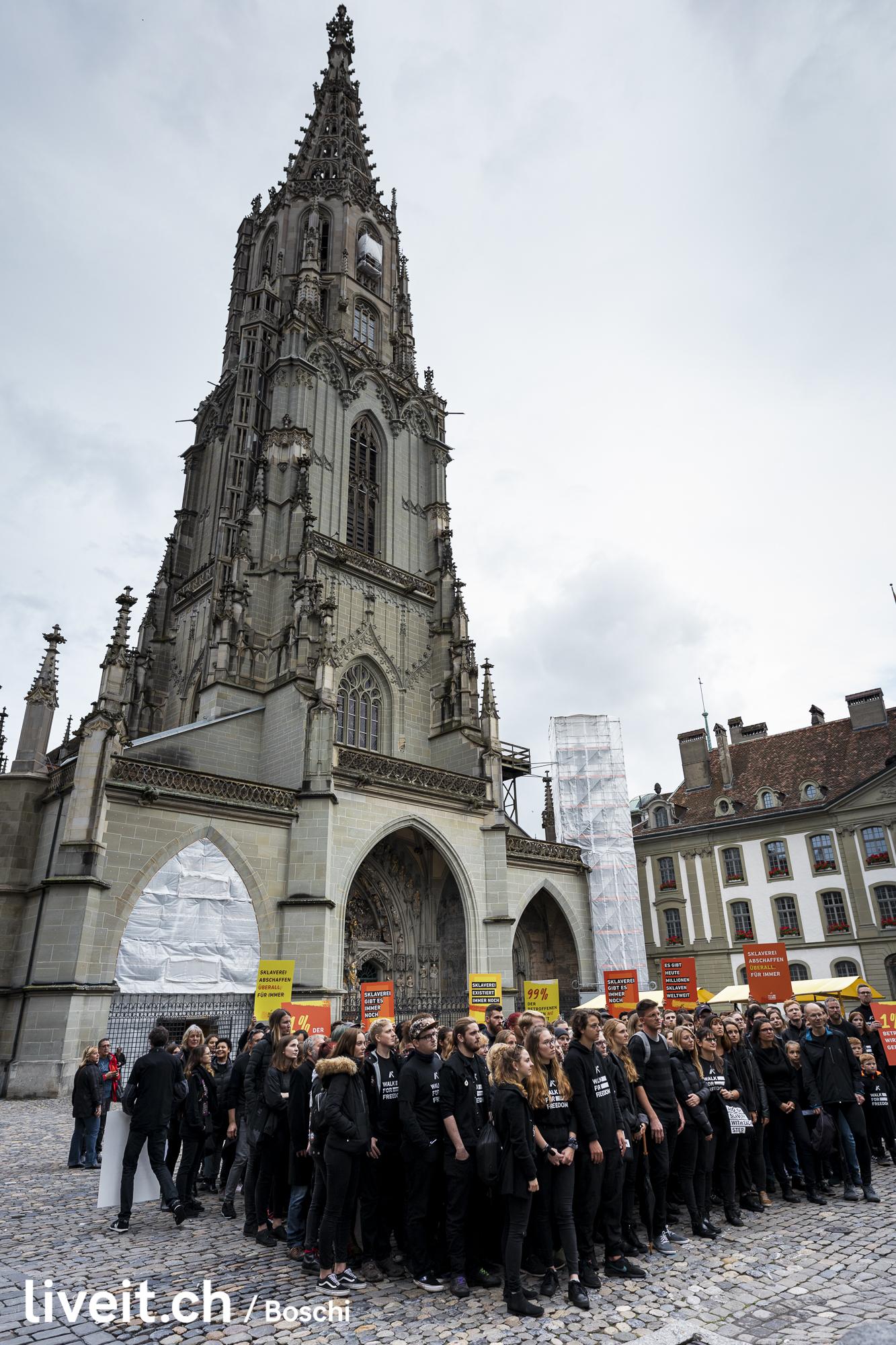 Demonstration gegen Sklaverei und Menschenhandel in Bern. Namentlich Walk for freedom (liveit.ch/boschi)
