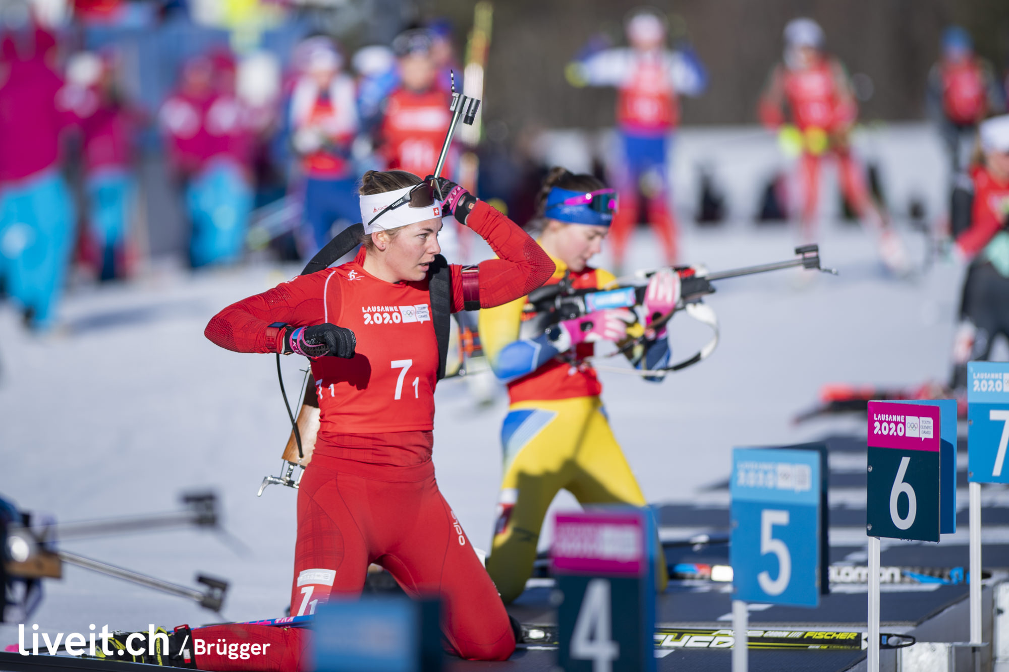 SWITZERLAND LES TUFFES YOG LAUSANNE2020 BIATHLON SINGLE MIXED RELAY