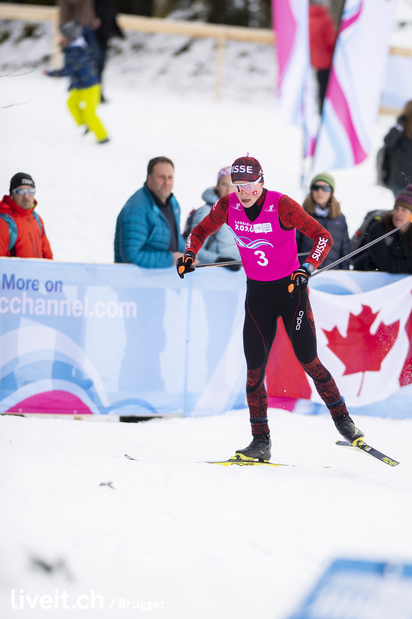 SWITZERLAND VALLEE DE JOUX YOG LAUSANNE2020 CROSS COUNTRY SKIING