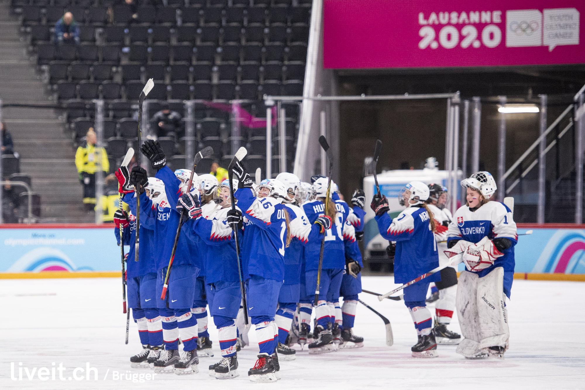 SWITZERLAND LAUSANNE YOG LAUSANNE2020 WOMEN ICE HOCKEY SWITZERLAND SLOVAKIA