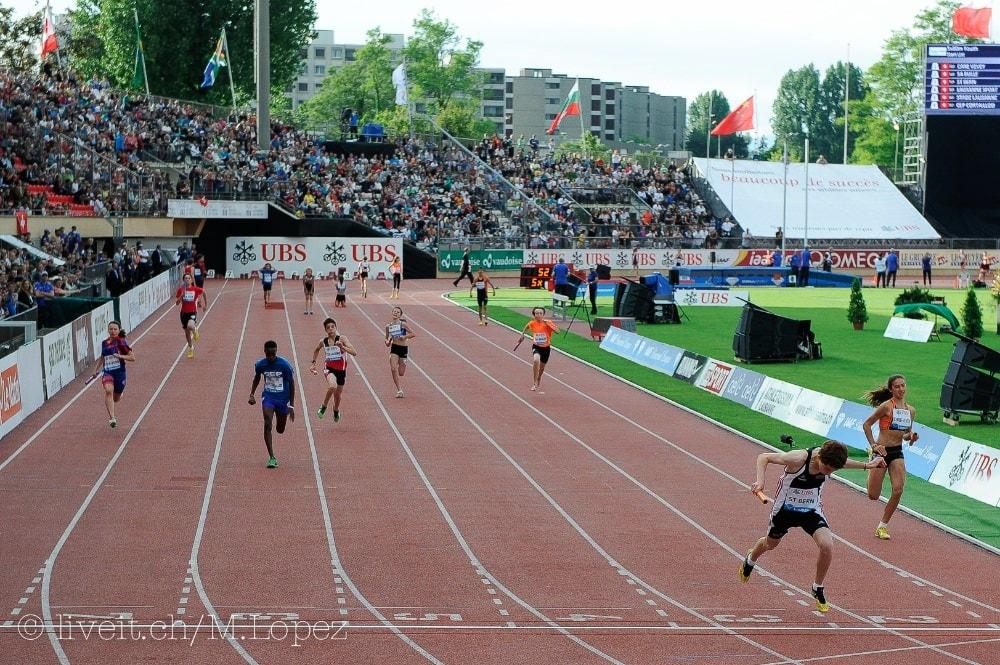Der ST Bern gewann die 5x80 Meter Staffetemit 52.54 Sekunden und