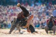 Eines der rund 600 Duelle die im Sägemehl von statten gingen.