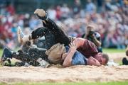 Christian Stuck besiegt seinen Konkurenten nach einem kurzen Kampf.