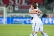Der Fc Basel bejubelt den ersten Treffer.