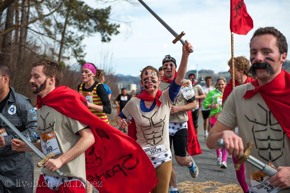 Mirjam aus Bern als Spartanerin verkleidet wurde 75 bei denn Frauen und 768 Overall.