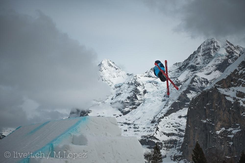 Auch die besten Freeskier waren sich nicht zu gut denn langen We