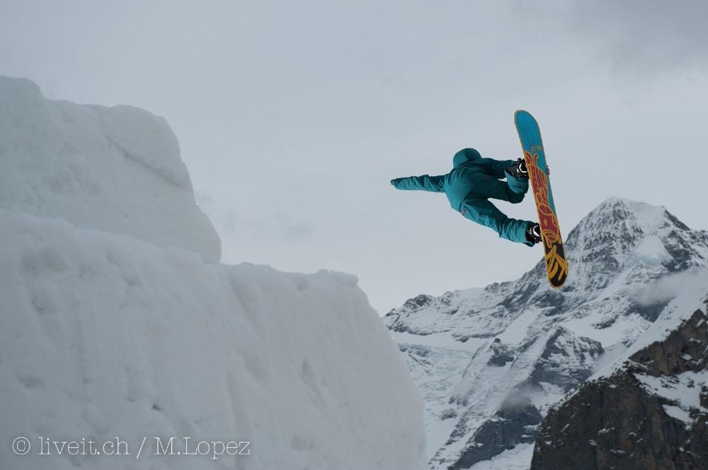 Auch Snowboarder waren einige unterwegs.