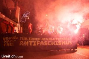 Impressionen der Basel Nazifrei Kundgebung fotografiert am Samstag 28. November 2020 in Basel. (Manuel Lopez)